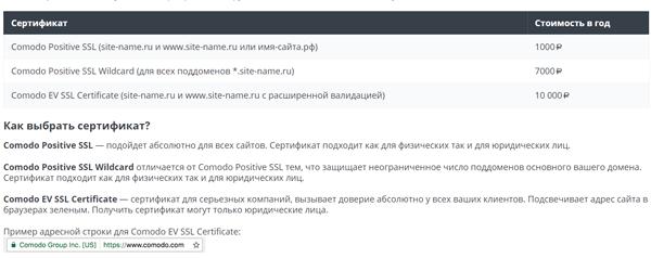 SSL сертификат от Макхост